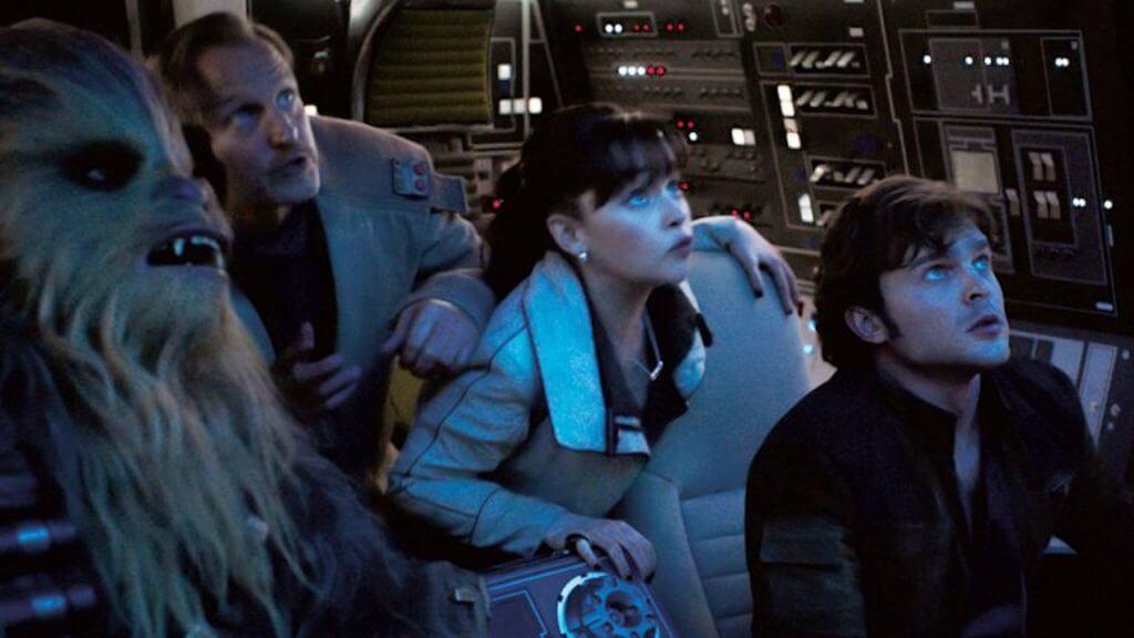 Alden Ehrenreich, Han Solo, Chewbacca, Emilia Clarke, Woody Harrelson, Solo: A Star Wars Story