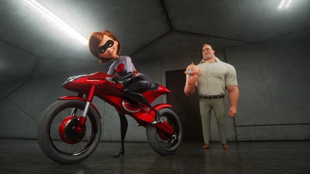 Elastigirl, Bob, Jack-Jack, Incredibles 2