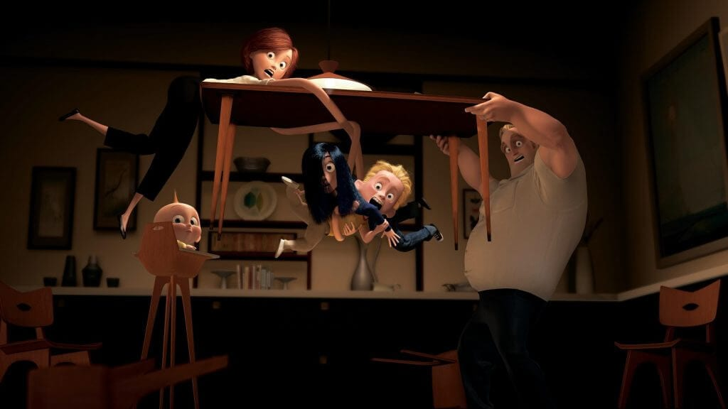 The Incredibles, Bob Parr, Helen Parr, Dash, Violet, Jack-Jack