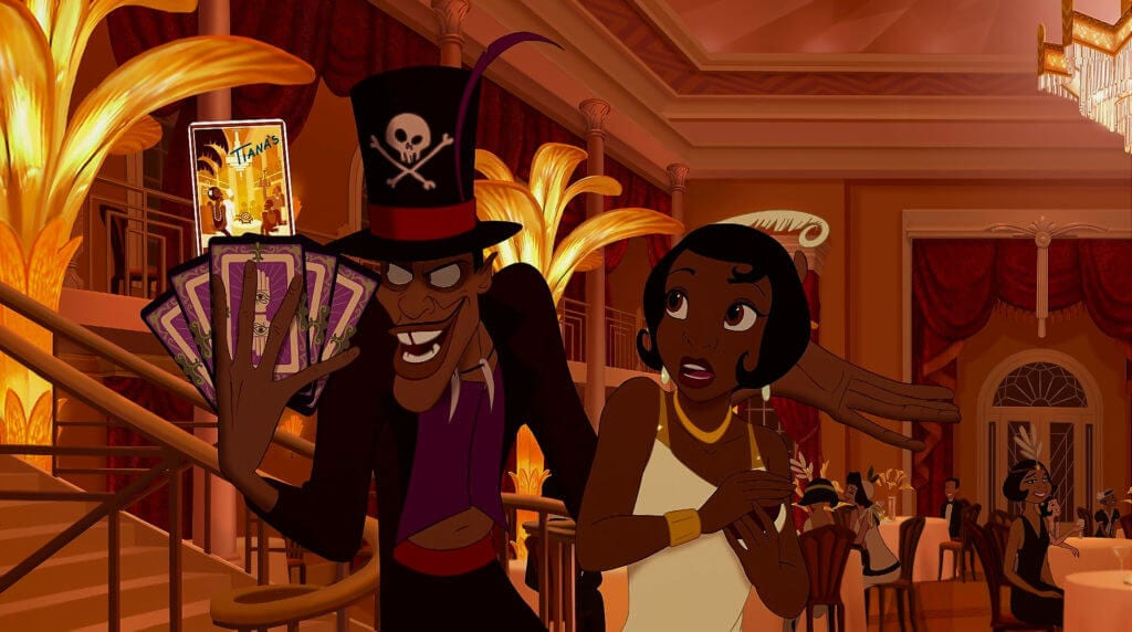 Tiana, Dr. Facilier, Shadow Man, The Princess and the Frog