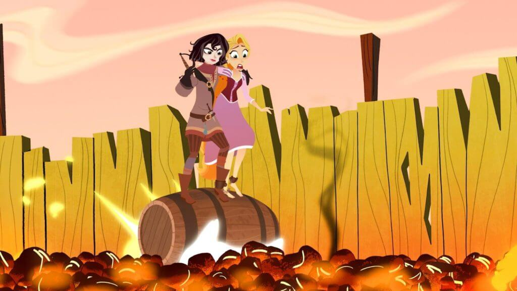 Rapunzel's Tangled Adventure, Rapunzel, Cassandra, Goodbye and Goodwill